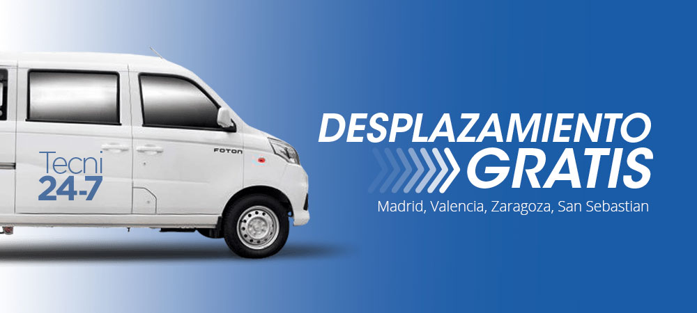 Técnicos a domicilio en Zaragoza, Valencia, Madrid, San sebastian
